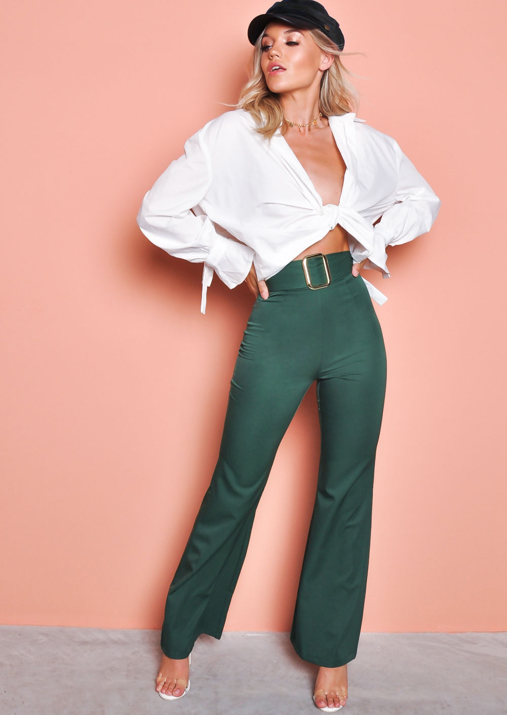 belted-satin-high-waisted-flared-trousers-green-Alisha-lily-lulu-fashion-2-2.jpg